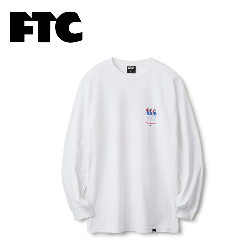 FTC エフティーシー 通販 SKY CLUB L/S TEE  FTC018AUT09 スカイクラブロングスリーブTシャツ メンズ 長袖 バックプリント 正規販売店 送料無料