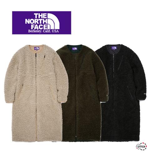 レディース THE NORTH FACE PURPLE LABEL ザ ノースフェイスパープルレーベル Wool Boa Fleece Long Coat NAW2050N ウールボアフリースロングコート 正規取扱店