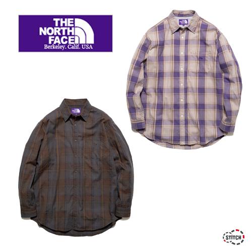 THE NORTH FACE PURPLE LABEL ザ ノースフェイスパープルレーベル Plaid Flannel Shirt NT3055N プレイドフランネルシャツ 長袖 正規取扱店