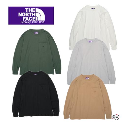 THE NORTH FACE PURPLE LABEL ザ ノースフェイスパープルレーベル 7oz L/S Pocket Tee NT3102N 長袖Tシャツ メンズ レディース ユニセックス 正規取扱店