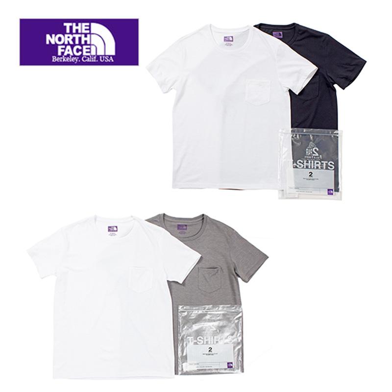 THE NORTH FACE  PURPLE  LABEL nananmica ザノースフェイスパープルレーベル COOLMAX® Pack Tee  NT3515N  半袖Tシャツ 2枚セット 送料無料