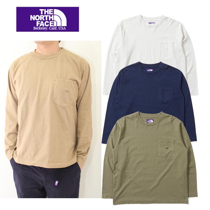 セール THE NORTH FACE  PURPLE  LABEL nanamica ザ ノースフェイスパープルレーベル 7oz L/S Pocket Tee NT3802N 長袖ポケットTシャツ メンズ