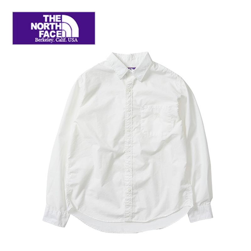 【メンズ レディース】THE NORTH FACE  PURPLE  LABEL nanamica ザ ノースフェイスパープルレーベル Cotton Polyester Typewriter Shirt NT3807N 長袖シャツ