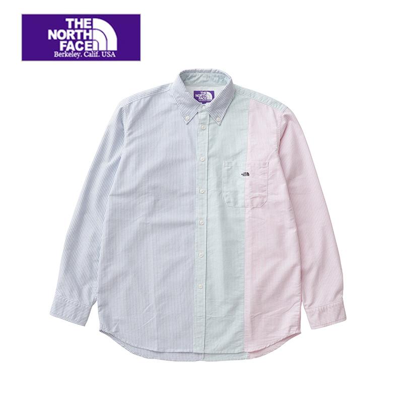 メンズ THE NORTH FACE  PURPLE  LABEL ザ ノースフェイスパープルレーベル Crazy Stripe Big B.D. Shirt NT3910N  クレイジーストライプボタンダウンシャツ 送料無料 正規取扱店