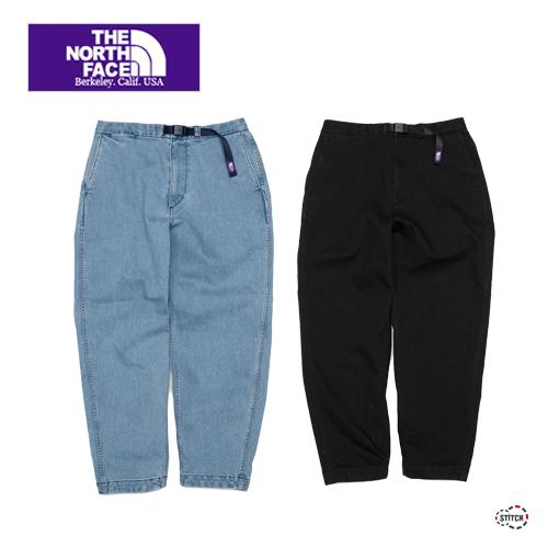 THE NORTH FACE  PURPLE  LABEL ザ ノースフェイスパープルレーベルWebbing Belt Denim Wide Tapered Pants NT5150N デニムワイドテーパードパンツ 正規取扱店