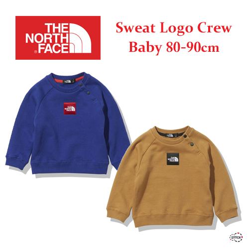 THE NORTH FACE  ザノースフェイス  Baby Sweat Logo Crew NTB61955 ベビー スウェットロゴクルー 80,90cm 正規取扱店
