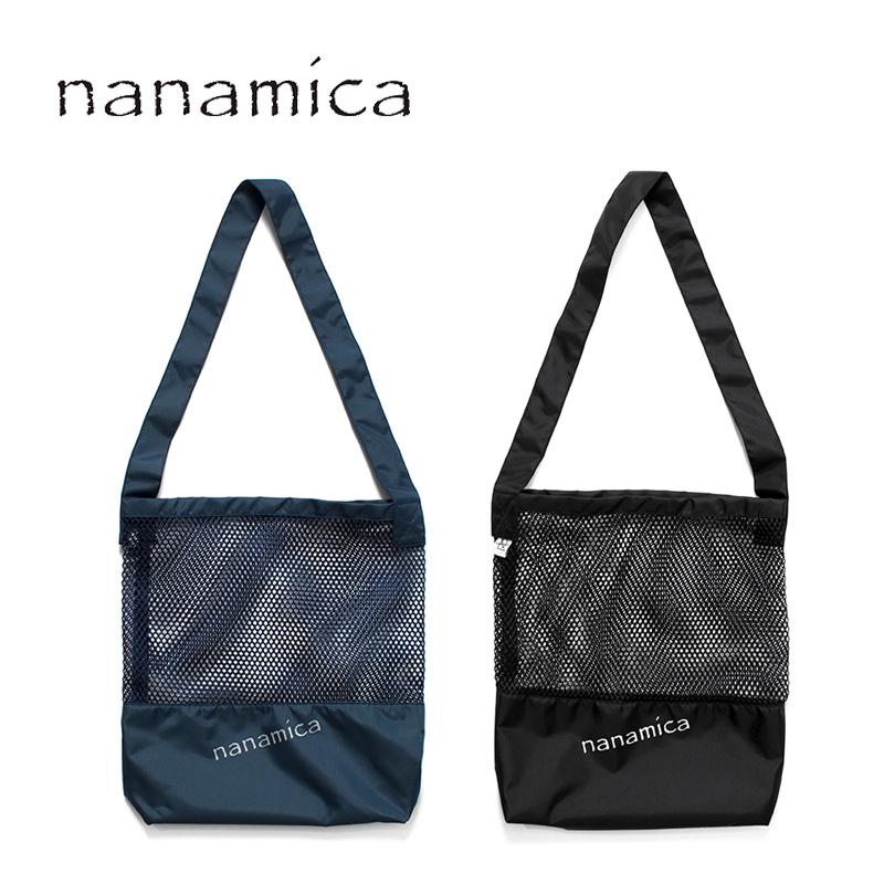 ユニセックス nanamica ナナミカ  nanamican Mesh Tote SUPS988 メッシュトートバッグ 正規取扱店 送料無料