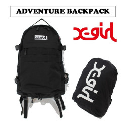X-girl (エックスガール) ADVENTURE BACKPACK 05171007 バックパック・レインカバー付