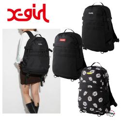 X-girl エックスガール MILLS LOGO ADVENTURE BACKPACK 105215053001 ミルズロゴアドヴェンチャーバックパック リュック XGIRL 正規販売店