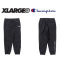 【X-LARGE(エクストララージ)×CHAMPION(チャンピオン)】 NYLON PANT 01173611 ナイロンロングパンツ  メンズ