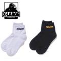 【ゆうパケット可送料205円】X-LARGE(エクストララージ) LOGO SOCKS 01181008 アンクル丈ソックス 靴下 メンズ