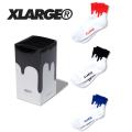 【X-LARGE(エクストララージ)×LIXTICK(リックスティック)】 LIXTICK XLARGE DRIPSOCKS 3PPACK 2 01182021 アンクルソックス3足セット 靴下 メンズ
