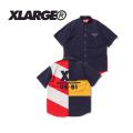 X-LARGE(エクストララージ) S/S PANELED SHIRT 01182406 半袖シャツ メンズ