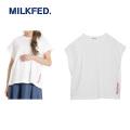 MILKFED ミルクフェド SLIT LOGO SLEEVELESS TOP 03181331 フレンチスリーブ Tシャツ  レディース 【正規販売店】