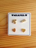 【SALE50%OFF】MILKFED.(ミルクフェド) MILKFED EARRING SET GOLD