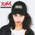 【X-girl(エックスガール)×NONAGON(ノナゴン)】COTTON CAP  05173053  コットンキャップ レディース