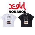 【X-girl(エックスガール)×NONAGON(ノナゴン)】FACES/SBIGTEE 05173133 半袖Tシャツ レディース ロゴ