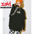 【X-girl(エックスガール)×NONAGON(ノナゴン)】HOODIE 05173213 パーカー レディース