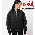 【X-girl(エックスガール)×NONAGON(ノナゴン)】MA-1 05173514 リバーシブルブルゾン レディース
