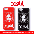 X-girl(エックスガール)FACE MIRROR&IC CARD MOBILE CASE or iPhone6 6s/7 05175043 モバイルケース ミラー付き