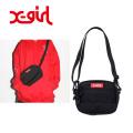 【正規取扱店】X-girl(エックスガール) BOX LOGO SHOULDER BAG 05175058 ショルダーバッグ ロゴ 黒 レディース