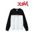 X-girl(エックスガール)BI-COLOR L/S REGULAR TEE  05181105 長袖Tシャツ レディース
