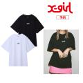 【予約商品】X-girl(エックスガール) BASIC S/S BIG 2P TEE 05181116 5月上旬発売予定 2枚セット Tシャツ ビッグシルエット レディース