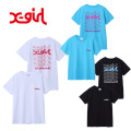 X-girl(エックスガール) JELLY LOGO S/S REGULAR TEE 05181124 ロゴグラフィック半袖Tシャツ レディース 送料無料