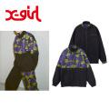 X-girl エックスガール STAND COLLAR REVERSIBLE JACKET 05181510  リバーシブル ジャケット ストリート レディース 送料無料 正規取扱店