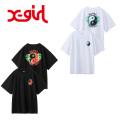 セール X-girl(エックスガール) YING YANG S/S MENS TEE 05182104  BIGシルエット半袖Tシャツ レディース 送料無料