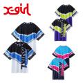 X-girl(エックスガール) VIVID THUNDER TEE 05182309 半袖Tシャツ ビッグシルエット レディース