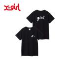 X-girl(エックスガール) CURSIVE LOGO S/S REGULAR TEE 05185103 カーシヴロゴ半袖Tシャツ レディース