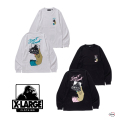XLARGE エクストララージ L/S TEE PEEL OFF 101204011017 バックプリント グラフィック  長袖Tシャツ メンズ 正規取扱店