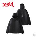X-girl エックスガール REVERSIBLE HOODED JACKET 105203021009 リバーシブル フーデット ジャケット レディース XGIRL 正規販売店