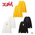 X-girl エックスガール FACE L/S TEE DRESS 105203041006 フェイス ロングスリーブ ティードレス ワンピース レディース XGIRL 正規販売店