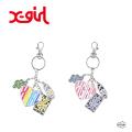 X-girl エックスガール VARIOUS LOGO KEY CHARM 105203054016 ロゴキーチャーム キーホルダーレディース XGIRL 正規販売店