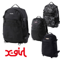 X-girl エックスガール MILLS LOGO ADVENTURE BACKPACK 105205053001 ミルズロゴアドベンチャーバックパック リュック XGIRL 正規販売店