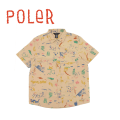 POLeR stuff ポーラー SPLATTER WOVEN  21300002 半袖 シャツ メンズ 正規取扱店 送料無料