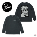 by Parra バイパラ mandinka Long Sleeve T-shirt 45030 ロングスリーブ Tシャツ ブラック グラフィック 長袖 メンズ 正規取扱店