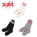 【ゆうパケット可送料205円】 X-girl Stages エックスガールステージス ロゴ入りハイソックス 9284412 キッズ 子供 靴下
