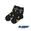 【ゆうパケット可送料205円】XLARGE KIDS (エクストララージ キッズ) バナナ総柄クルーソックス 9481409 キッズ 子供靴下