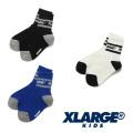 【ゆうパケット可送料205円】XLARGE KIDS (エクストララージ キッズ) ロゴラインクルーソックス 9483415 キッズ 子供靴下
