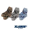 【ゆうパケット可送料205円】XLARGE KIDS (エクストララージ キッズ) 迷彩柄アイコンクルーソックス 9483418 キッズ 子供靴下