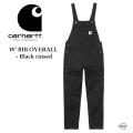 carhartt WIP カーハート W' BIB OVERALL I028634 Black rinsed  ビブ オーバーオール キャンパス生地 レディース 正規取扱店
