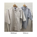予約4月上旬~5月上旬入荷予定 THE NORTH FACE PURPLE LABEL ザ ノースフェイスパープルレーベル Stripe OX B.D. Big H/S Shirt NT3011N ストライプ ボタンダウンビッグシャツ 半袖 正規取扱店