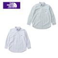 メンズ レディース THE NORTH FACE  PURPLE  LABEL ザ ノースフェイスパープルレーベル Cotton Polyester Stripe OX B.D. Big Shirt NT3909N ストライプボタンダウンシャツ 送料無料 正規取扱店