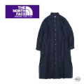 THE NORTH FACE PURPLE LABEL ザ ノースフェイスパープルレーベル Light Denim Shirt Dress NTW3069N デニムシャツドレス ワンピース スカート 正規取扱店