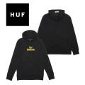 【SALE】 HUF ハフ BURN FAST PULLOVER HOODIE BLACK PF00180HO19 バーン ファースト プルオーバー フーディー パーカー スウェット メンズ 正規取扱店舗 新品