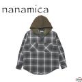 nanamica ナナミカ Hooded Check Wind Shirt SUGF954  フードチェックウィンドシャツ メンズ 正規販売店