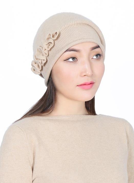 【海外お取り寄せ商品】 GOYOL カシミヤ 100%  カシミヤレディース帽子 モンゴル国産 天然カシミヤ 100% ゴヨル